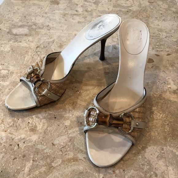 9b0a7221df0 Gucci Shoes - Vintage Gucci Horse bit Bamboo Mules 9.5B